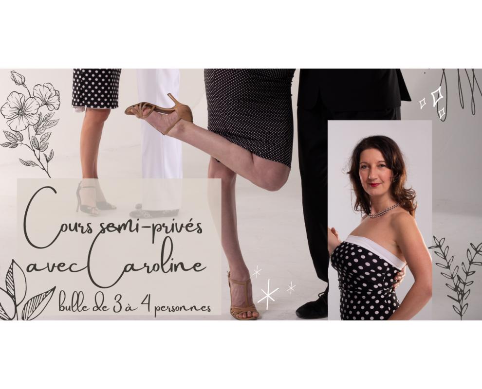 Cours SEMI-PRIVÉS de tango argentin avec Caroline