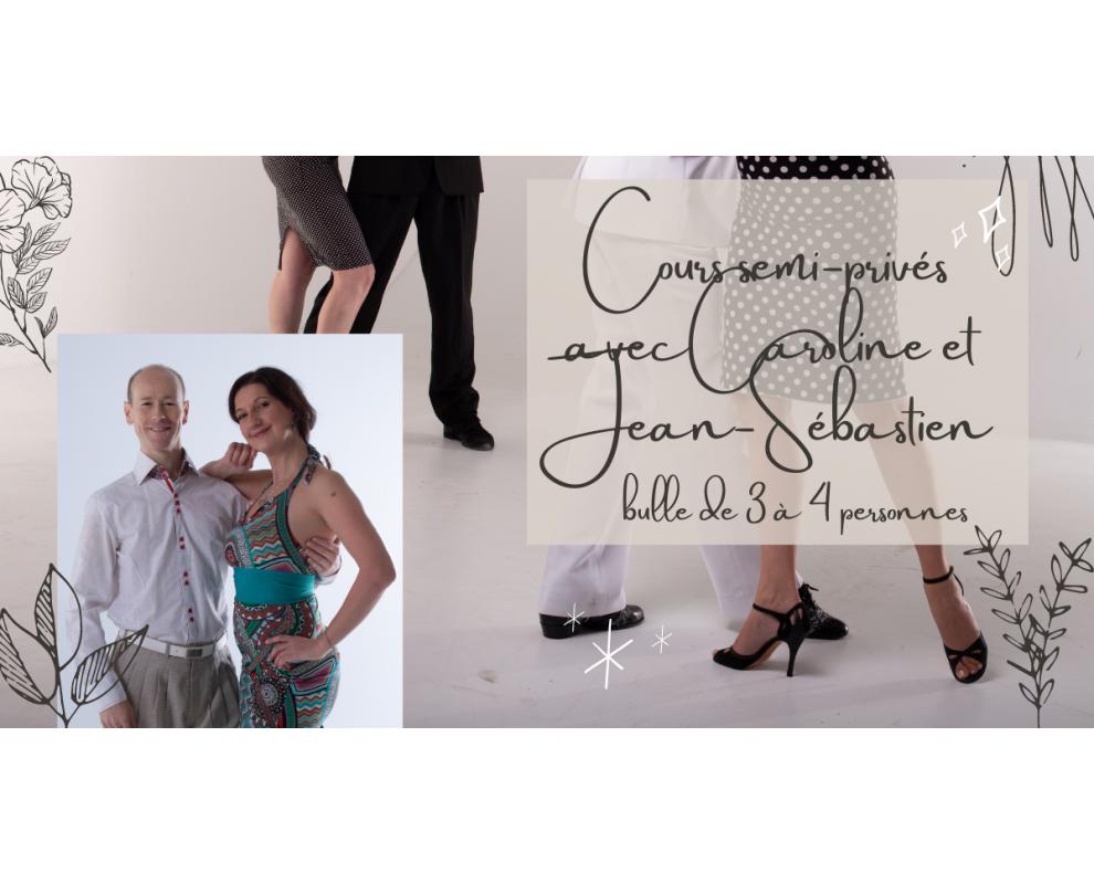 Cours SEMI-PRIVÉS de tango argentin avec Caroline et Jean-Sébastien