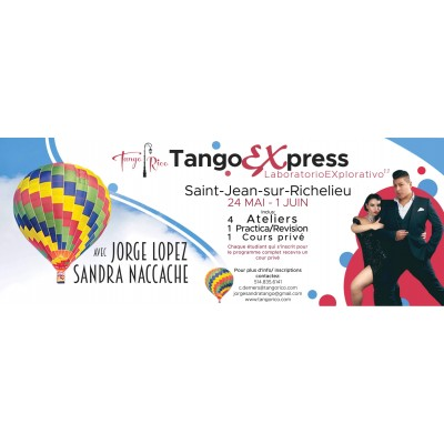 TangoExpress avec Sandra & Jorge du 24 et 31 mai 2019 - FORFAIT BRONZE